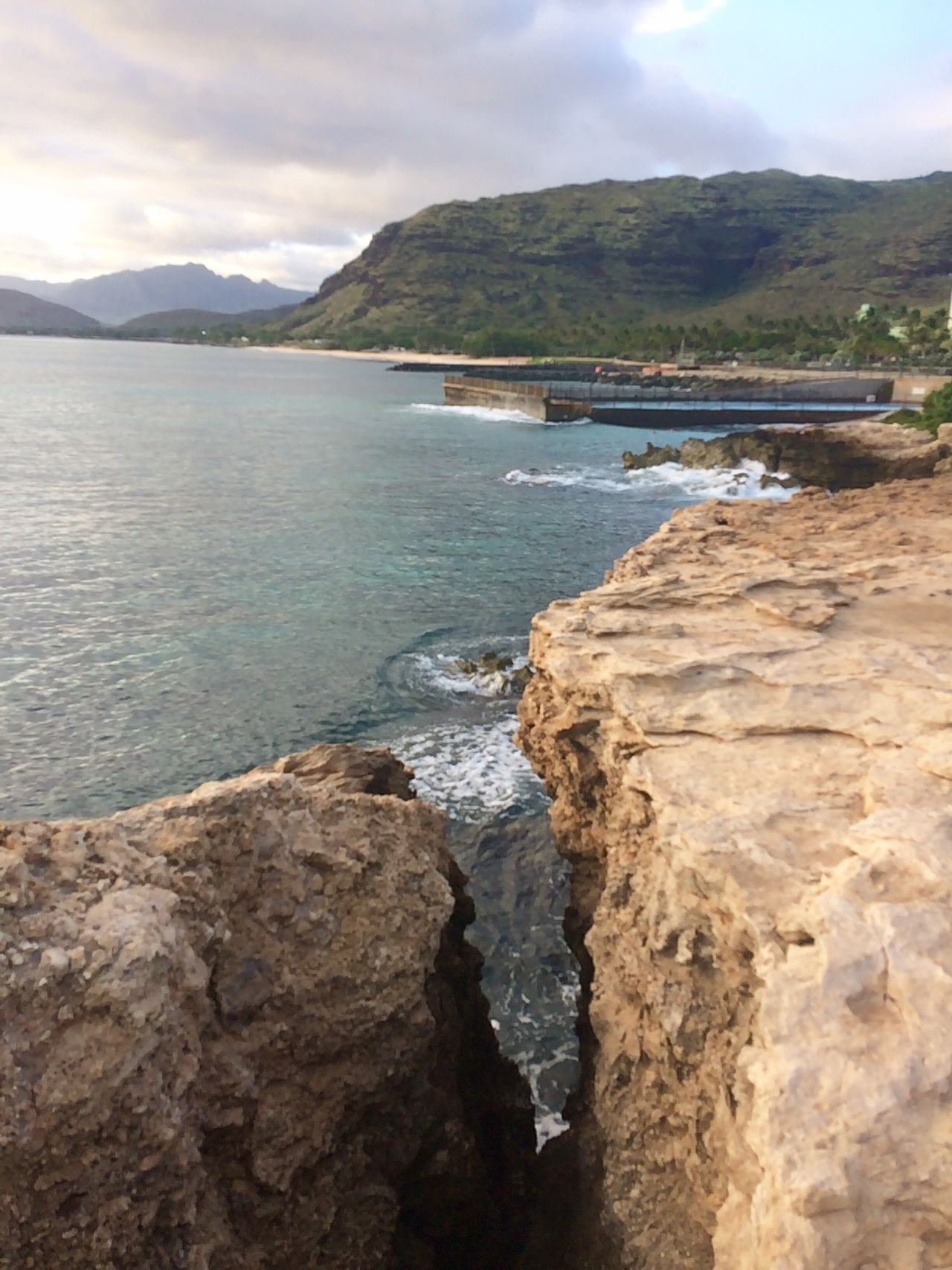 Nofilter Cliff Rock Coast Coastline Island Oahu Hawaii Westside Mountain Water Nature Beauty In Nature Sky Day Outdoors Scenics Sea No People Landscape Scenery Beachtime Staycation Waitingforsunset Sunset