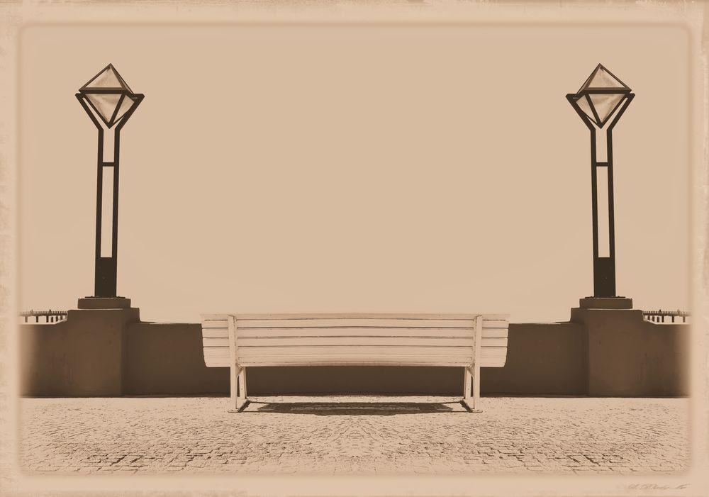Architecture Bench Binz Auf Rügen Lanterns Laternen Postcard Promenade Prommenade Rügen Seaside Resort Art Deco Style Bank Holiday Greetings Nostalgic  Outdoors Retro Styled Seaside Seebadbinz Sephia Photo Sitzbank Vintage Photo