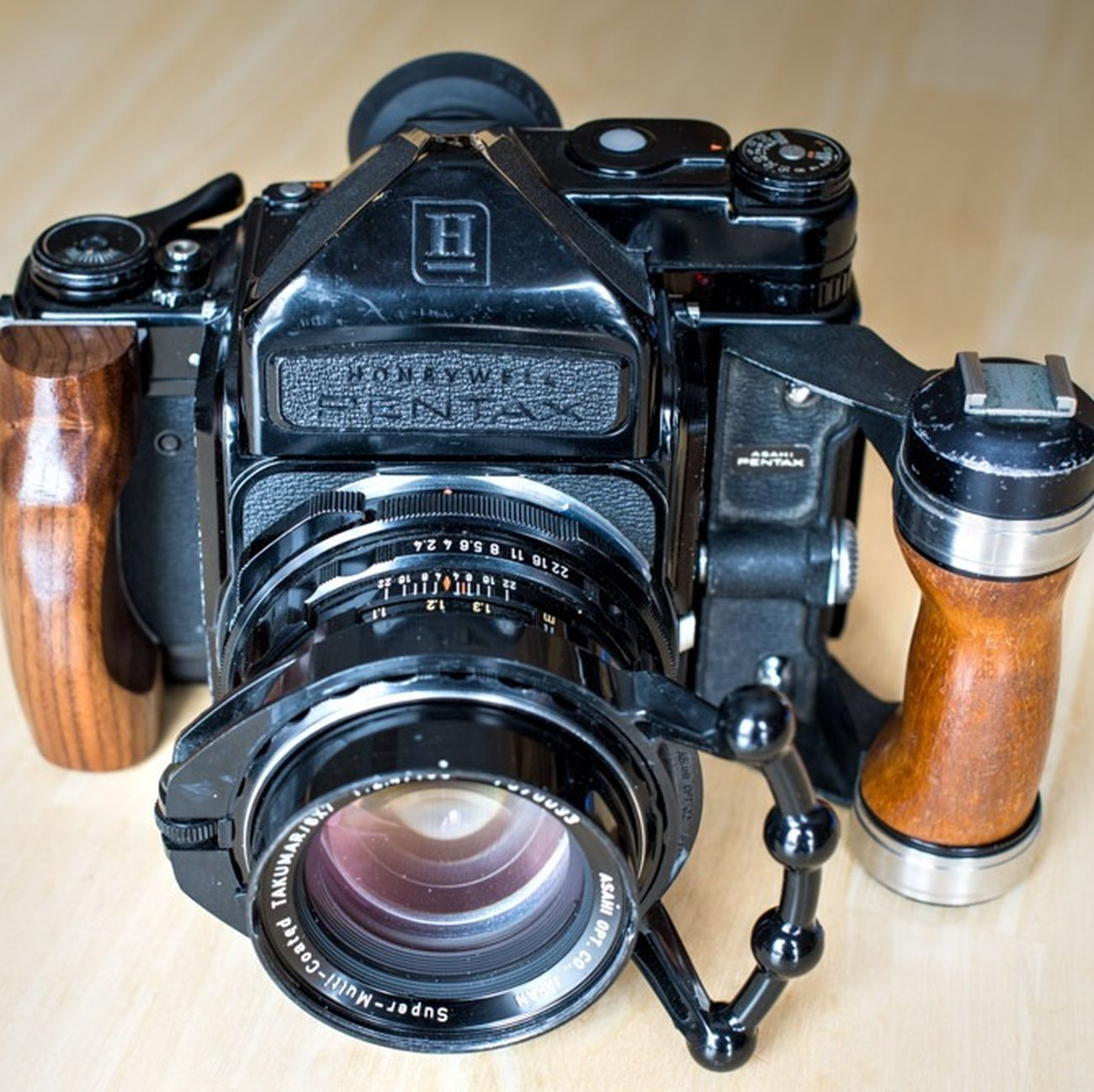 Here's to shooting more Film in 2014. PENTAX67 with dual wood grip and Takumar 105mm f2.4 lens