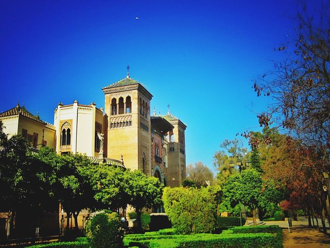 Sevilla Spain Architecture and Landscape Taking Photos Repost Landscape Tourist Passerby Clear Sky Blue Sky Sunny Day Architectural Detail Architecture_collection Architecture SPAIN Poster It Urban Landscape
