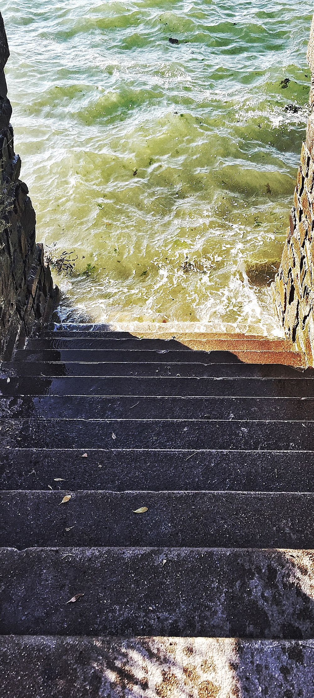 Steps Steps And Staircases Staircase Water Sea Railing Wave Stairs Rippled The Way Forward Shore Outdoors Prefailles Tide Tranquility Step Tranquil Scene Scenics Long No People