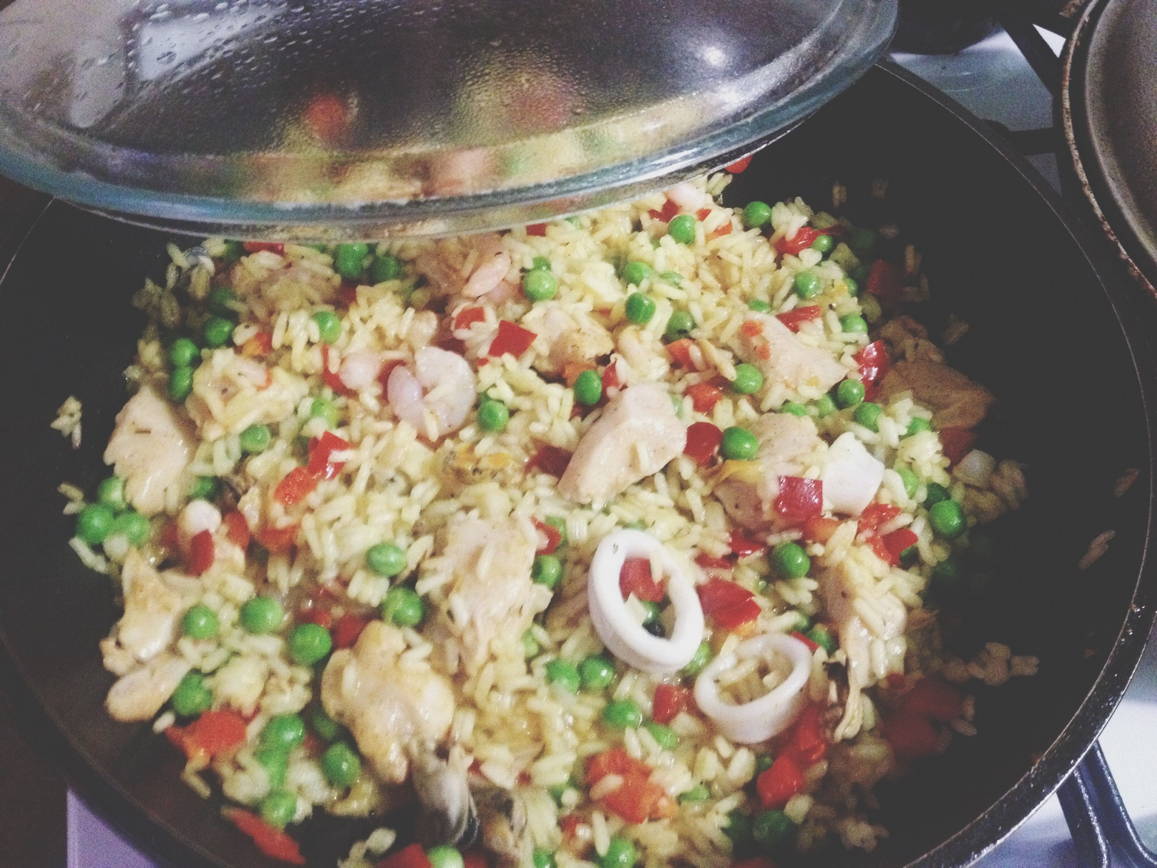 food and drink, food, freshness, indoors, ready-to-eat, healthy eating, meal, plate, bowl, still life, serving size, table, close-up, vegetable, high angle view, salad, indulgence, meat, rice - food staple, spoon