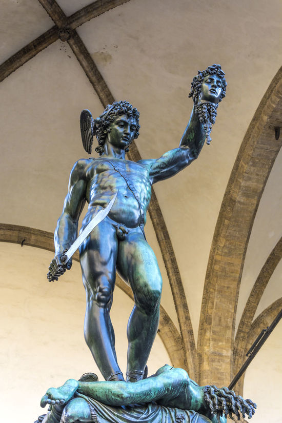 Animal Representation Architecture Art Art And Craft Benvenutocellini Building Exterior Built Structure Carving - Craft Product Creativity Day Florence Human Representation Italy Low Angle View Medusa No People Outdoors Perseus Sculpture Statue Sunlight Tourism Travel