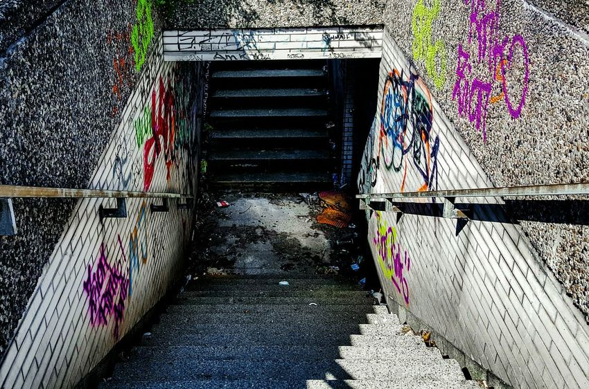 Architecturelovers Underground Stairs Graffiti Tag Grafitti Graffiti Wall Dirty City Life Streetphotography Street Photography Streetphoto_color Streetphoto Urban Geometry Urbanphotography Urban Lifestyle Urbanexploration Urban Landscape Germany Urban Photography Streetlife Colours Colourful Nopeople Archtecture The Secret Spaces
