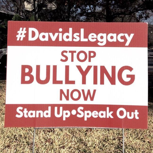#DavidsLegacy Stop Bullying Now. #SanAntonio #BexarCounty #Texas ❤️
