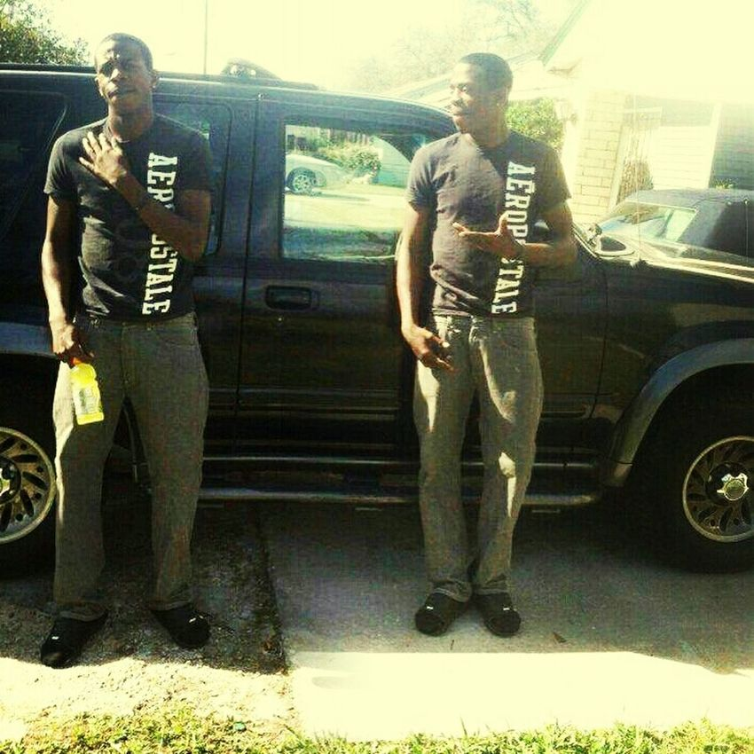 me and my bro we had twin day