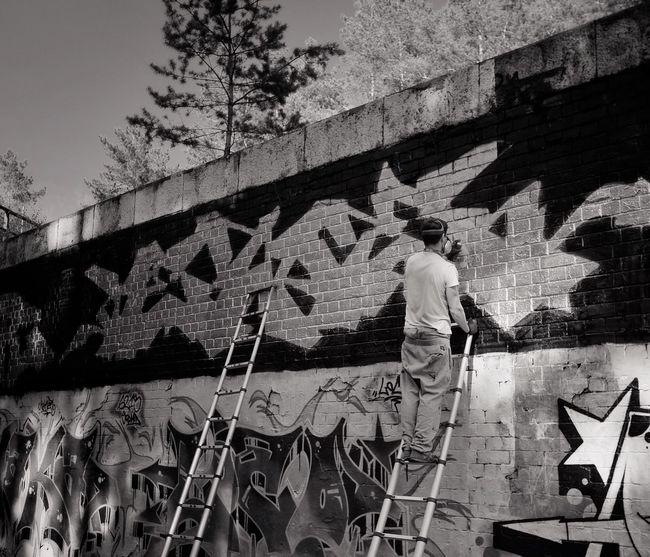 Make Art Not War Graffiti Blackandwhite FUJIFILM X-T1