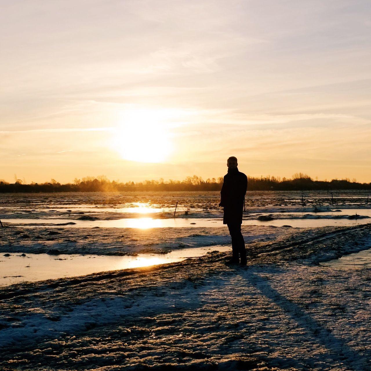 Watching the sunrise EyeEm Nature Lover Silhouette Nature_collection Landscape EyeEm Best Shots EyeEm Best Shots - Nature Copenhagen Sunrise_sunsets_aroundworld Sunrise