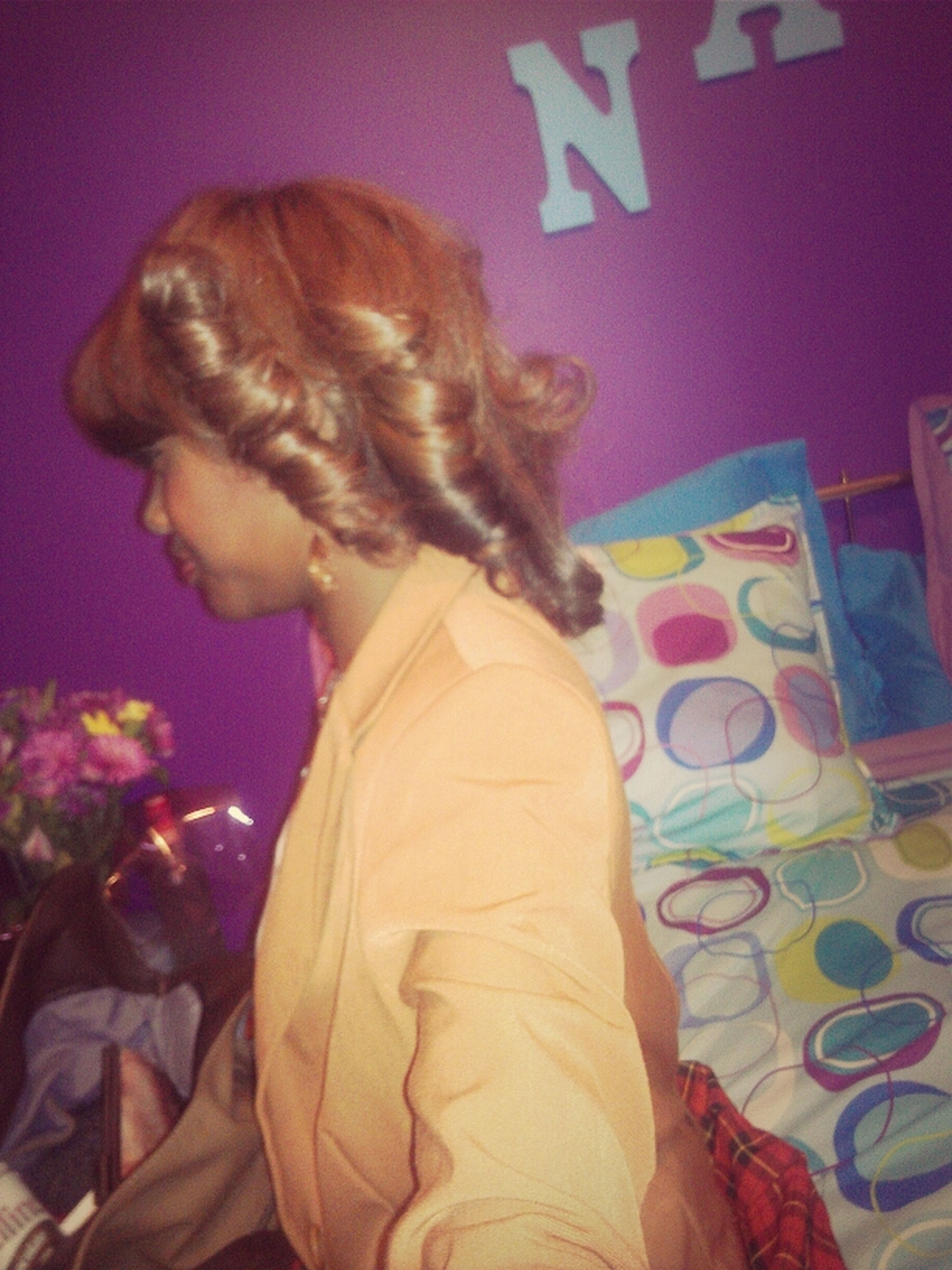 my hair today >>>>>>getting dressed for school All My Hair:)