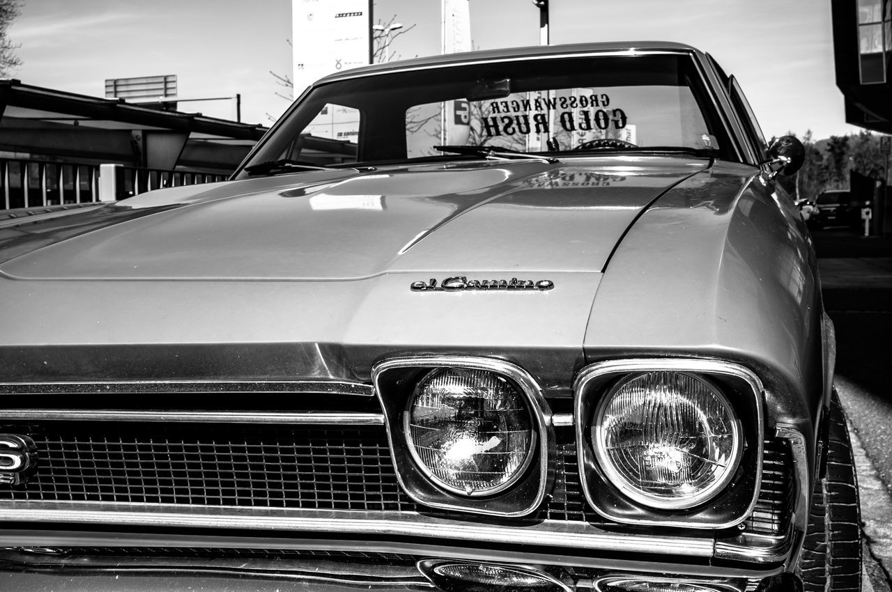 Car Chevrolet Close-up Collector's Car Day El Camino Land Vehicle Luxury Mode Of Transport No People Old-fashioned Outdoors Shiny Transportation