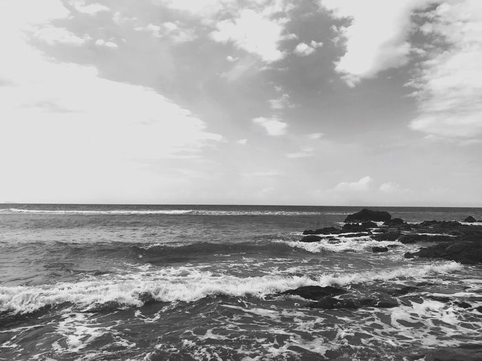 Last day in 2017 Monochrome Photography Monochrome BW_photography Bw_collection Bw Black & White Blackandwhite Photography Black And White Black Landscape_photography 2017 Year Oldyear Sea Horizon Over Water Water Sky Nature Beauty In Nature Wave Scenics Tranquil Scene No People Nautical Vessel Beach Outdoors Cloud - Sky Day Tranquility