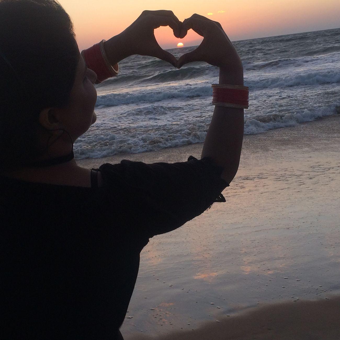 Heart Shape Beach Love❤ Newlyweds Husband & Wife ❤ Husband ❤