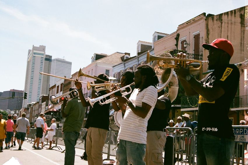 New Orleans French Quarter Festival 2016. Shot on a Nikon FM-10 35mm Film Camera 35mm 35mm Film Architecture Art Band Cathedral Festival Film Film Photography French Quarter Historic Live Music Louisiana Missippiriver Music New Orleans New Orleans, LA Nikon Nikonphotography Outdoors People Street Photography Streetphotography