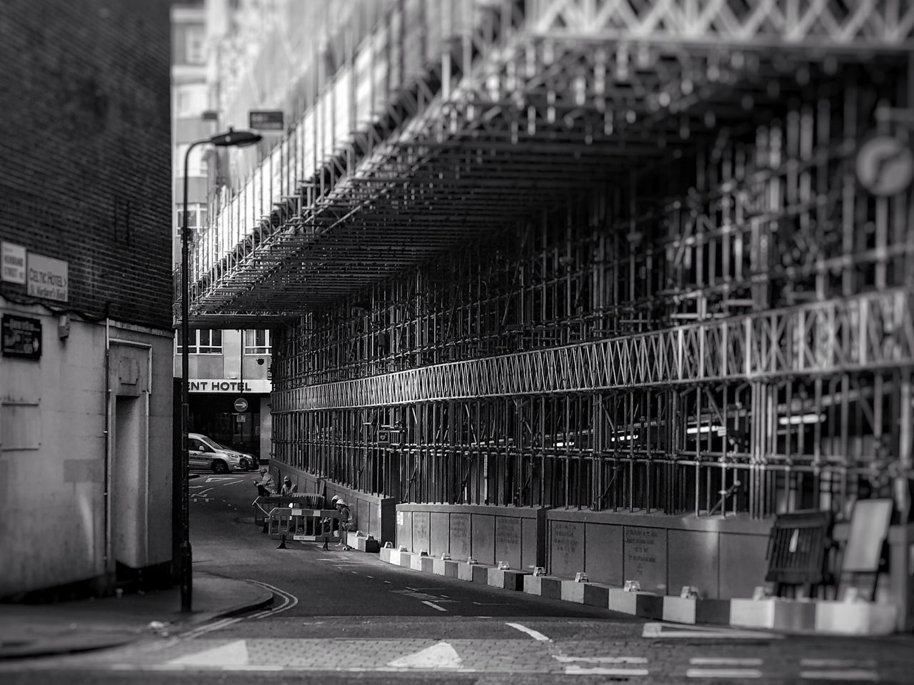 Architecture Built Structure Transportation Day No People Indoors  Scaffolding Scaffold Scaffolding Workers Scaffold Net