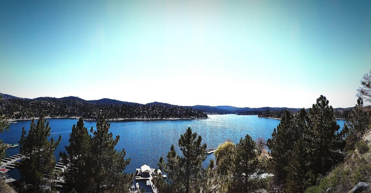 Lake Arrowhead Lake Moumtains Reflection Trees Beautiful Day