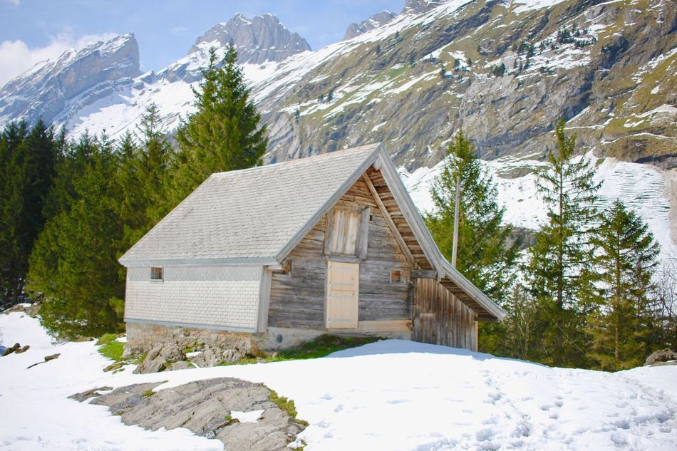 Switzerland Alps Mountain Winter Snow Built Structure Chalet Scenics House Architecture Hut Nature Building Exterior Beauty In Nature Travel Destinations Switzerland