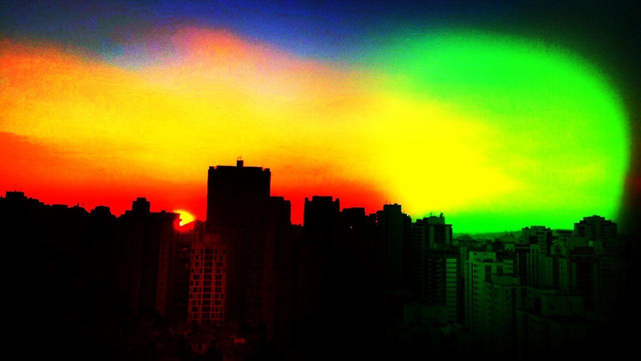 SAO PAULO BRAZIL AUTUMN Architecture Building Built Structure City City City Life Cityscape Cloud Cloud - Sky Dark Dramatic Sky EyeEm Team Modern No People Office Building Orange Color Outdoors Scenics Sky Skyline Skyscraper Sunset Tall - High Urban Urban Skyline