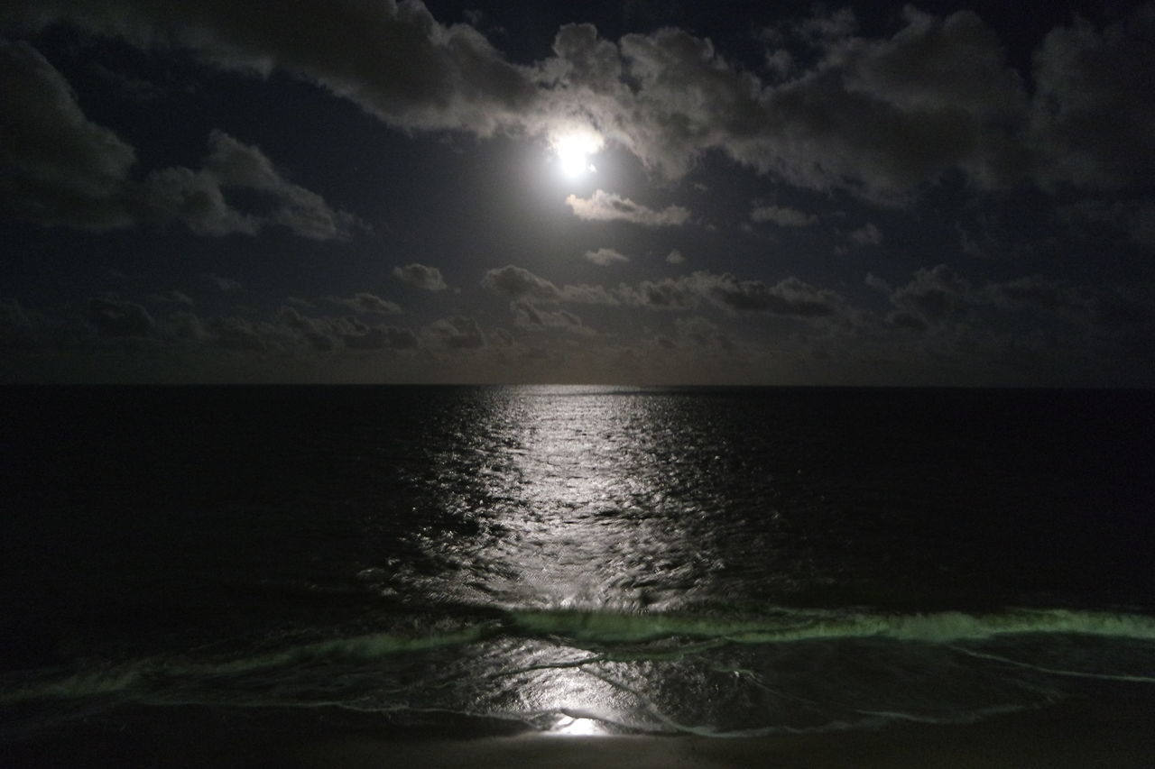 Nightphotography Night Reflection Nature Tranquil Scene Scenics Beauty In Nature Outdoors Moon Sea Water Sky Astronomy Travel Destinations EyeEm Best Shots - Landscape Brazilian Gallery Exploring Brazil Capture The Moment Paradise Beach Vacations Beach Horizon Over Water Enjoying Life Admiring The View Live For The Story