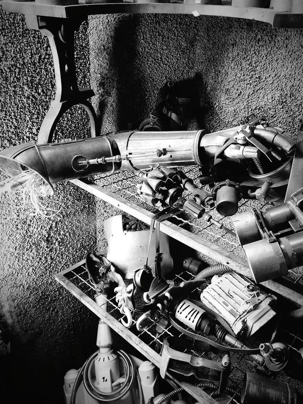 Starwars No People Electrical Equipment C3po Dismembered Robot Arm Spare Parts Monochrome Galaxy S8+ Cell Phone Photography So that's where i put it.