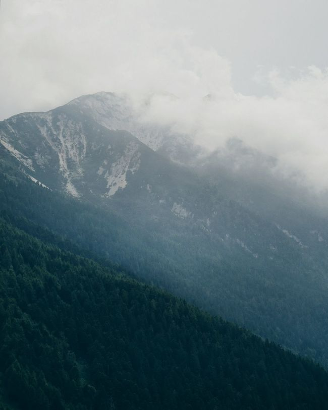 Beauty In Nature Mountain Nature Travel Mountainsarecalling Mountain View My Year My View Adventures Dramatic Sky Chasing Fog Foggy Landscape Mountain Hiking Italy Gardalake Misty Mountains  Pine Tree