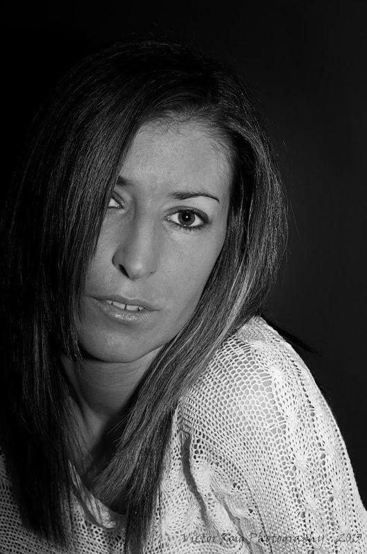 blackandwhite portrait girl model by VICTORROIG
