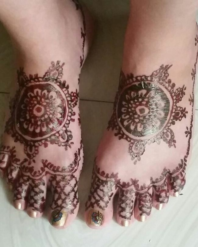 My feet for my wedding. ❤ Thanks to my new sister😘👍❤Henna Tattoo MehndiDesign Mehndiart Feet Feet Love
