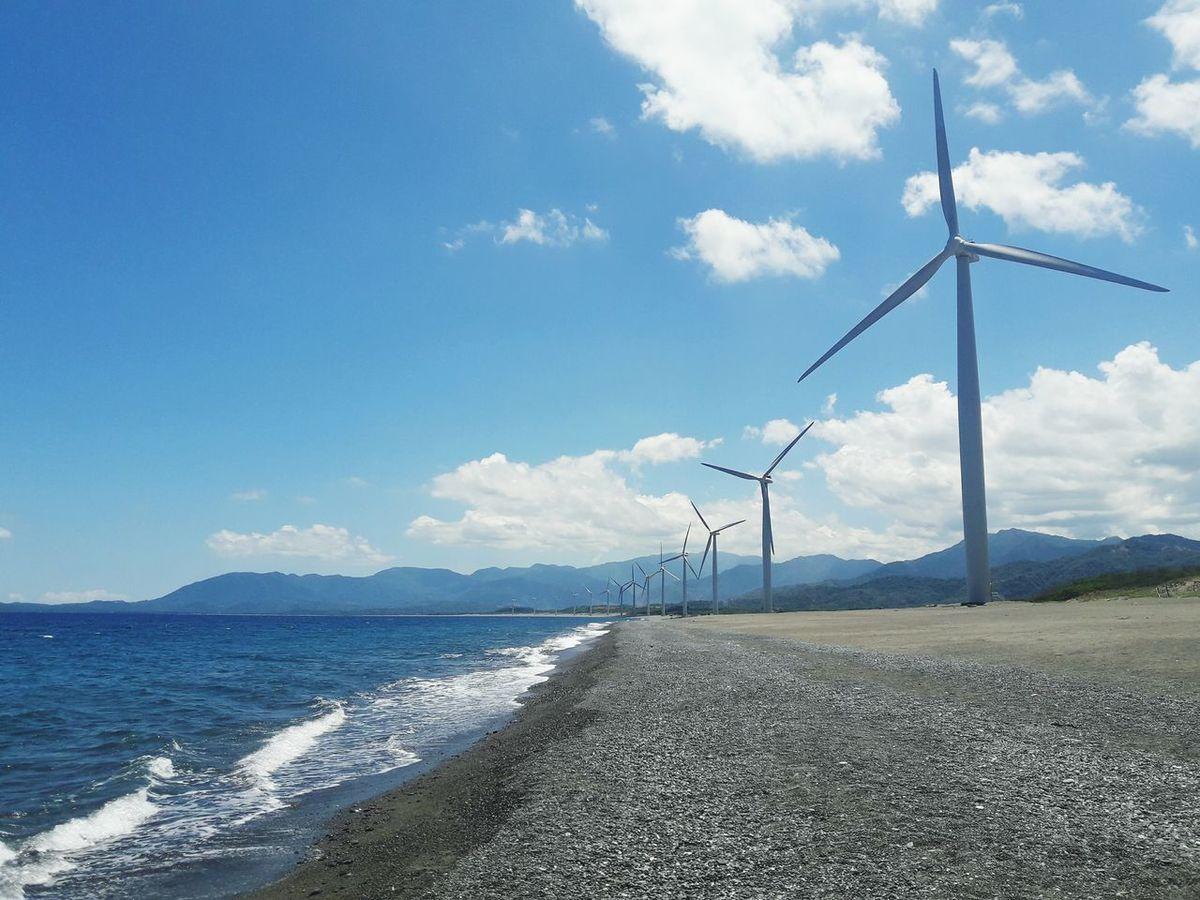 by the sea Alternative Energy Fuel And Power Generation Wind Power Wind Turbine Cloud - Sky Beach Outdoors Technology Windmill Sea Day Sky Windmill Farm