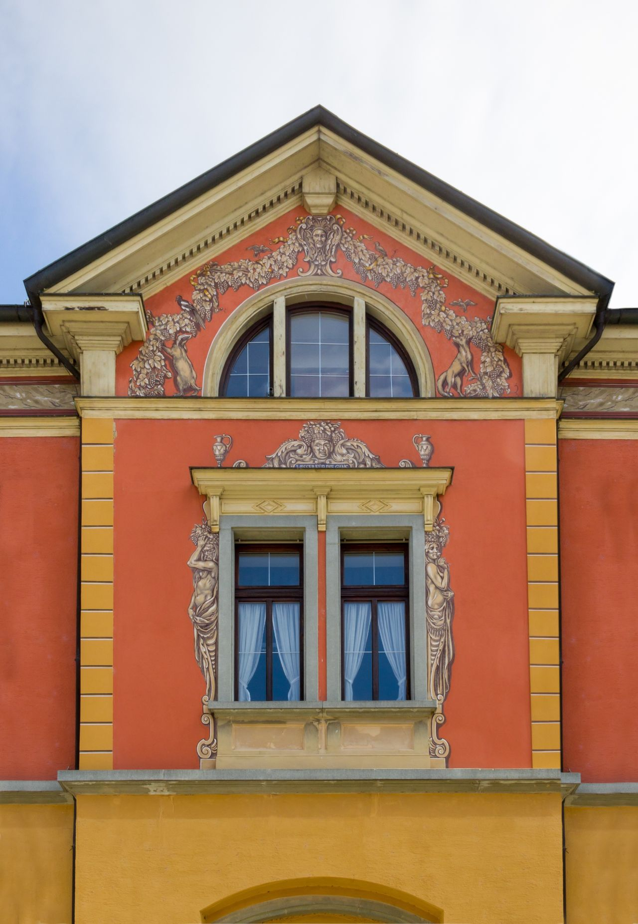 The Architect - 2017 EyeEm Awards Architecture Built Structure Building Exterior Day No People Outdoors Low Angle View Sky Close-up Colorful Orange Orange Color Ladyphotographerofthemonth Old Buildings Old Town Bavaria Germany Windows Window Front View
