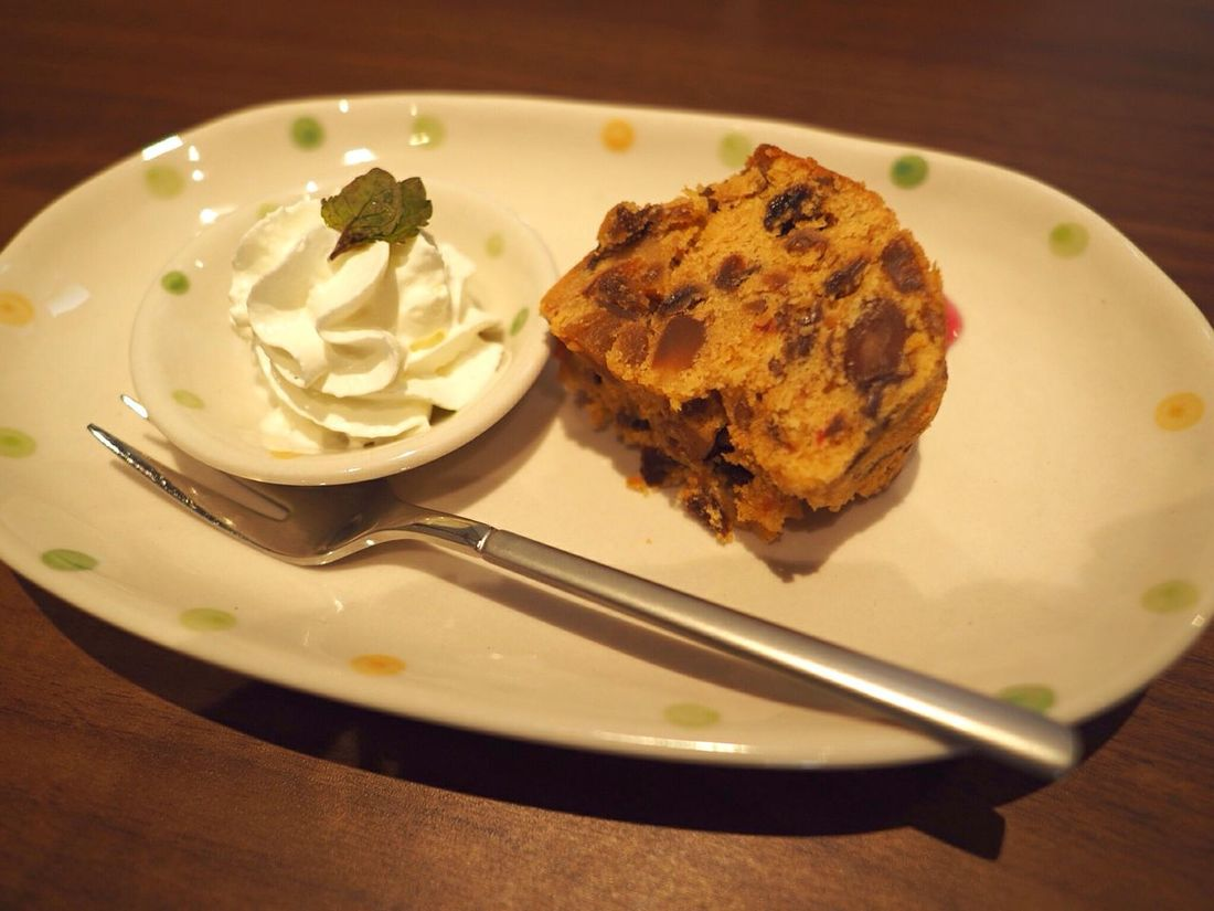 Kyoto Japan KIRIHA Cafe Cafe Fruitscake Sweets Cream Gojyo Olympus PEN-F 京都 日本 カフェ フルーツケーキ お菓子 五条
