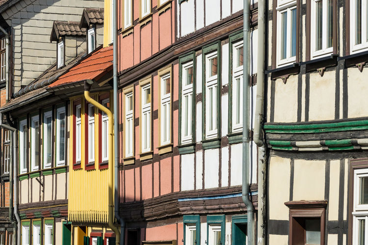 Buildings in Wernigerode, Germany. City Relaxing Architecture Building Exterior Buildings Built Structure Day Detail Harz Journey Outdoors Saxony Anhalt Tourism Town Travel Destinations Vacation Windows