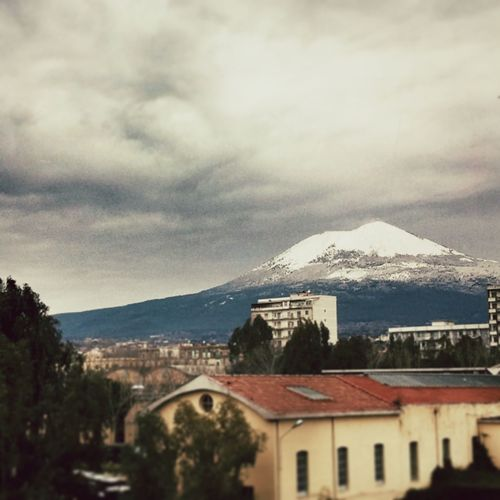 Snowing Vesuvio Naples