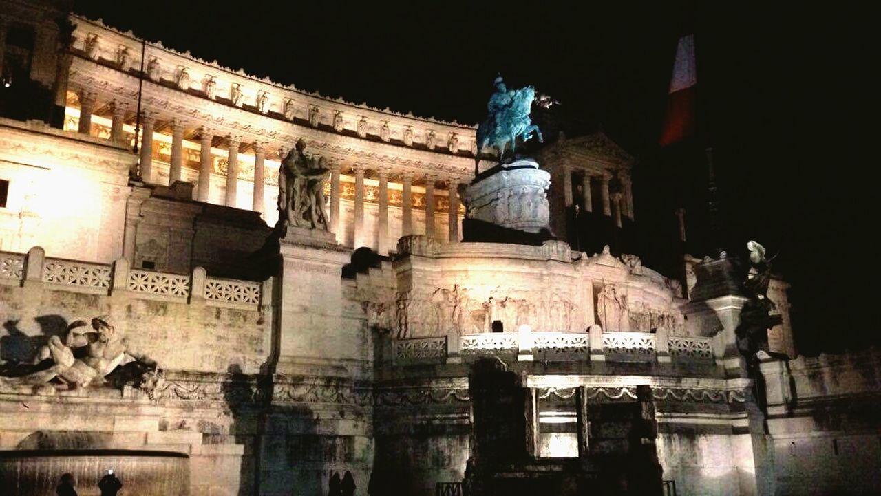 Romebynight Troll Night Illuminated Architecture No People Rome First Eyeem Photo