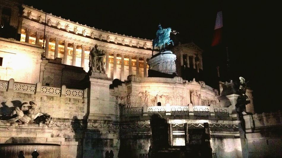Romebynight Troll Night Illuminated Architecture No People Rome First Eyeem Photo