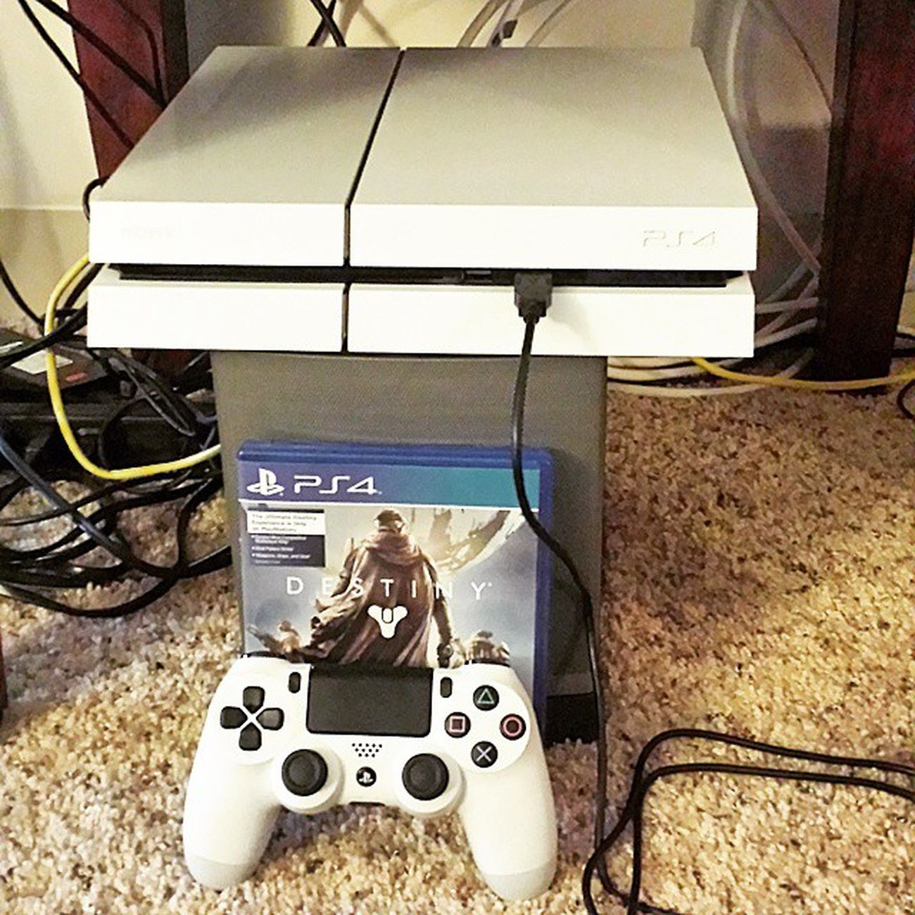 Best gift ever from my beautiful girl @_lisa_lee_ PS4 Playstation White Destiny Nextgen Sick Ridiculous Imanerd Lovethisshit Amazing Highdef Gamning Destinybundle MICROSOFTneedsTOlearn TeamSony Ps4life