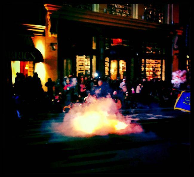 Having fun at Chinese New Years Parade 2012 Ina's 1969 Film Jolly Rainbo 2X Flash Having Fun