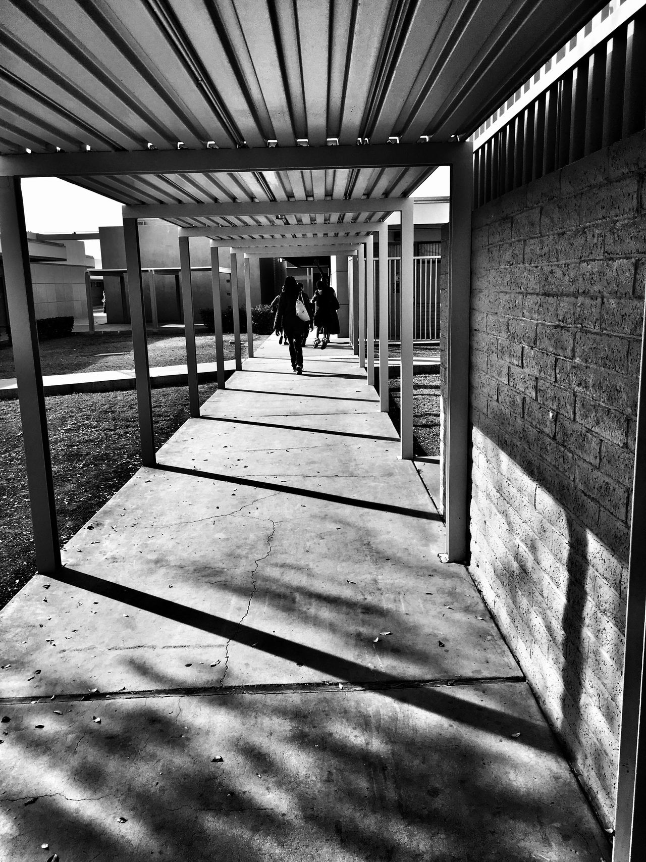 Hallway Real People Built Structure Architecture Lifestyles Full Length Rear View The Way Forward Leisure Activity Day Indoors  Men Women One Person EyeEm Gallery Check This Out Popular Photos Alleyezonmayphotography Black And White Photography EyeEm Best Shots Mesa Arizona