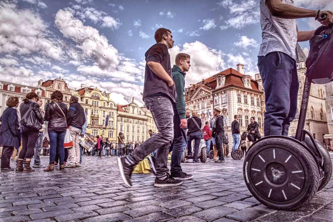 Prague ! It is a good place to heal ! Hello World Scenery Prague Square People Prague Czech Republic Photography Electric Car Balance Beautiful