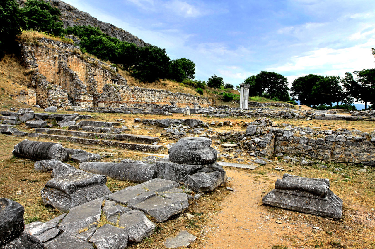 Visiting the Philippi archaeological site, Northern Greece Ancient Archaeology Day Excavation History Landscape No People Old Outdoors Past Rock - Object Ruins Sky Stone - Object The Past Fine Art Photography UNESCO World Heritage Site