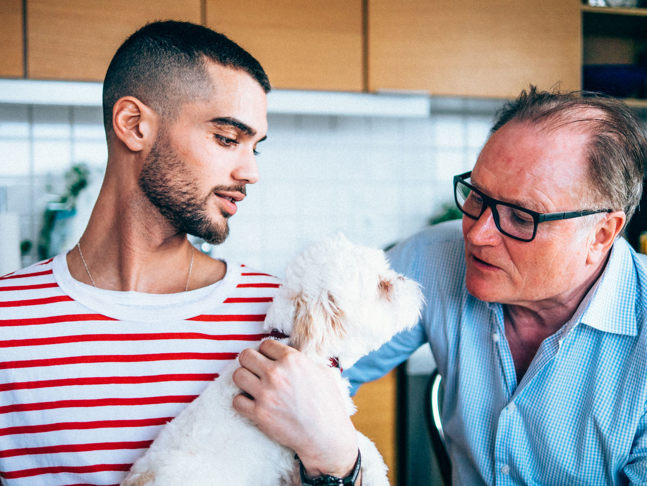 Beautiful stock photos of ostern, striped, men, two people, people