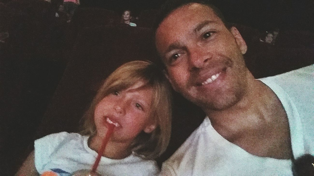 Well at least I look happy to see the Minions movie haha! PNut Mionionmovie Summer2015 Daddydaughter Egyptiancinemark MD