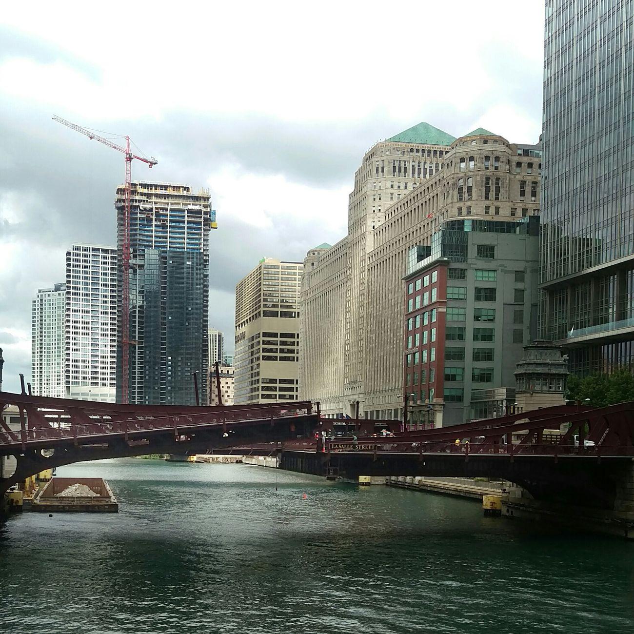 Cranes, trains, and funky sun rays EyeEm Best Edits Architecture Bridges River Construction