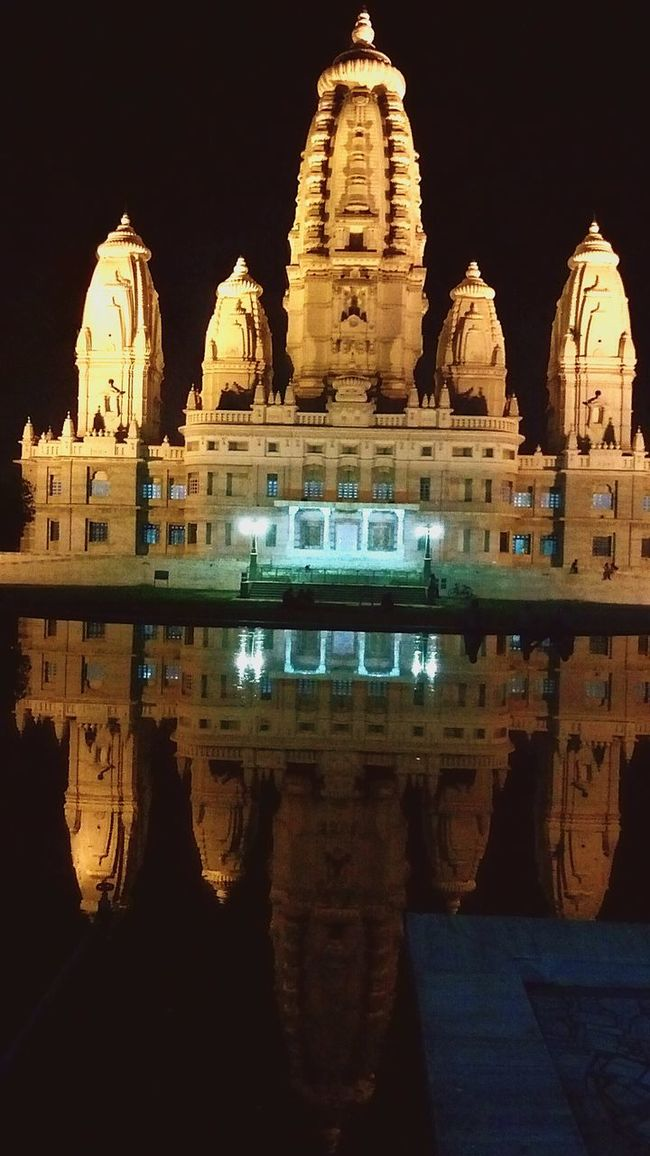 JK Temple Place Of Worship Night Built Structure Reflection Travel Destinations Kanpur 🎈👻