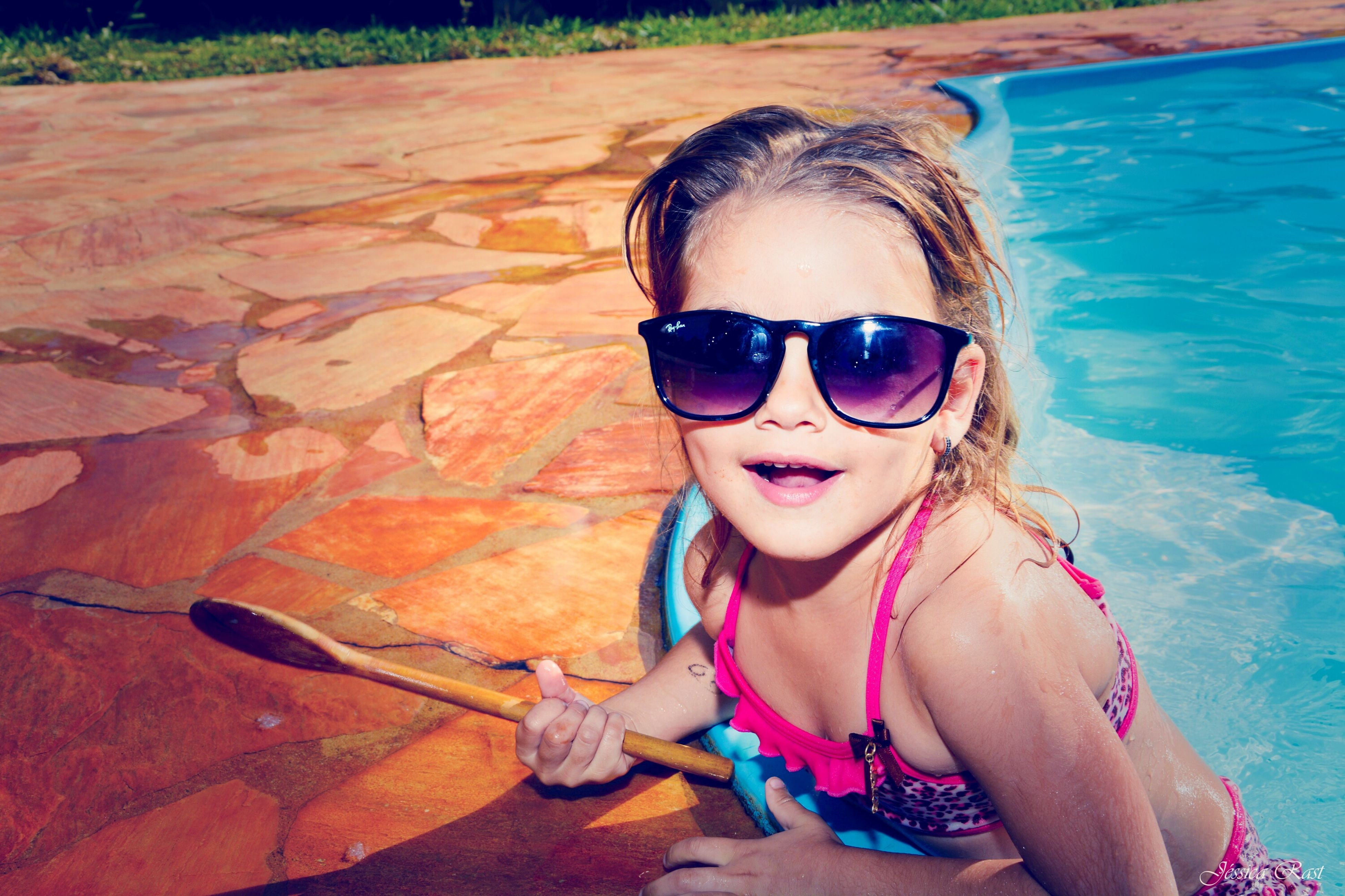 sunglasses, child, summer, one girl only, sunlight, children only, childhood, one person, vacations, smiling, beach, outdoors, sand, portrait, people, day