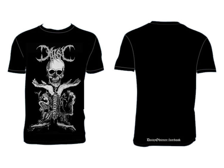Tshirt Death Doom Metal Deathmetal Blackmetal Depressive Suicidal Skull Rotting Draw Page Facebook DaisyObscure ( Page facebook DaisyObscure )