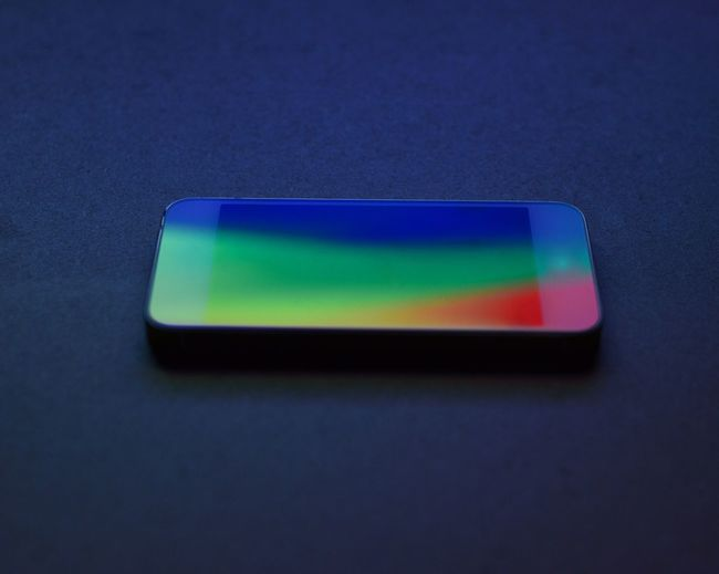 Blue Close-up Geometric Shape Green Color Man Made Object Mobile Phone Multi Colored No People Office Supply Order Reflection Single Object Still Life Vibrant Color