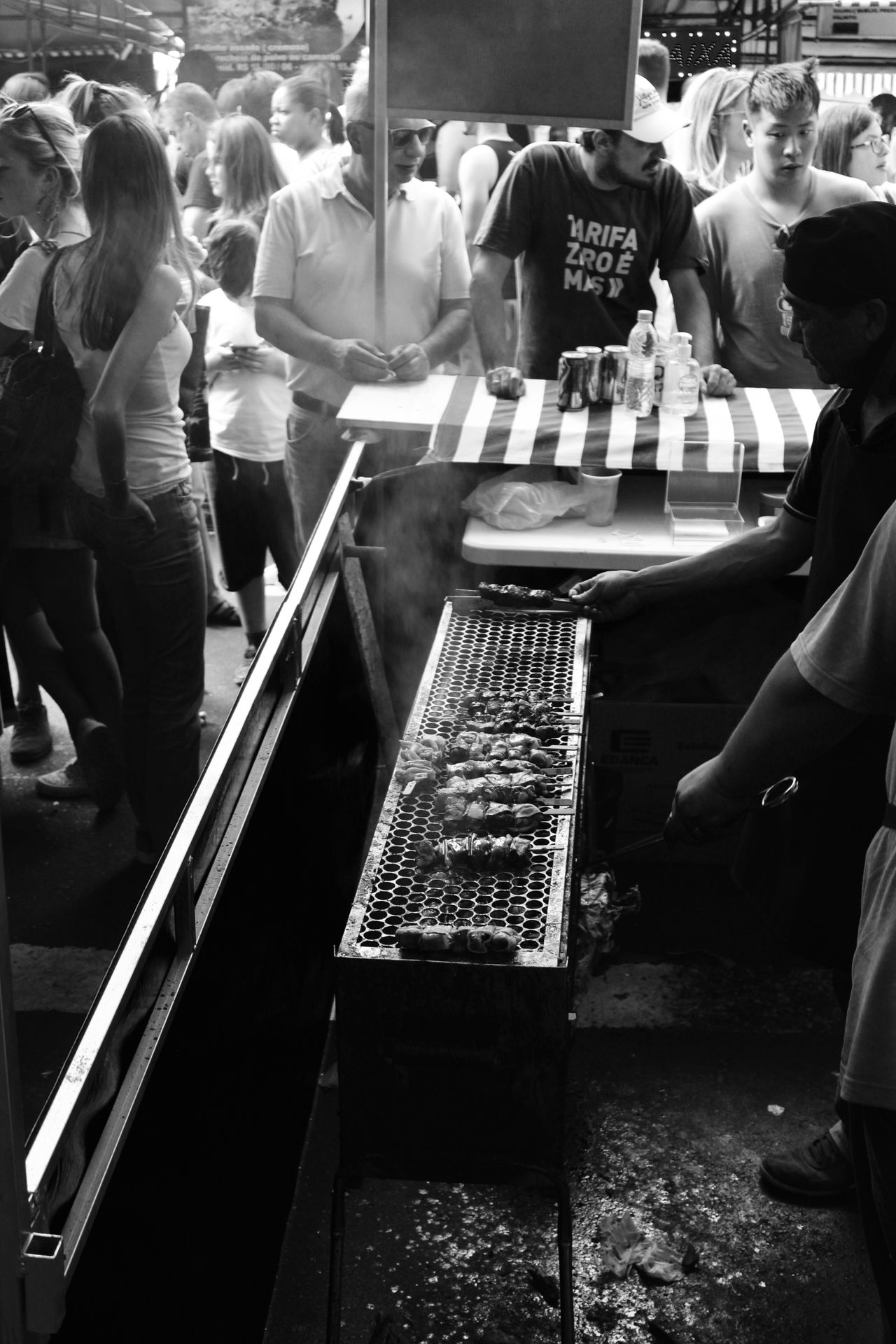 Feira Da Liberdade Sao Paulo - Brazil City Life Monochrome Photography Undergroundphotography Black And White Photography Blackandwhitephotography Dramatic Black And White Abundance Food And Drink Lifestyles Oriental Food  Oriental Style Japan Style Eat Eat And Eat