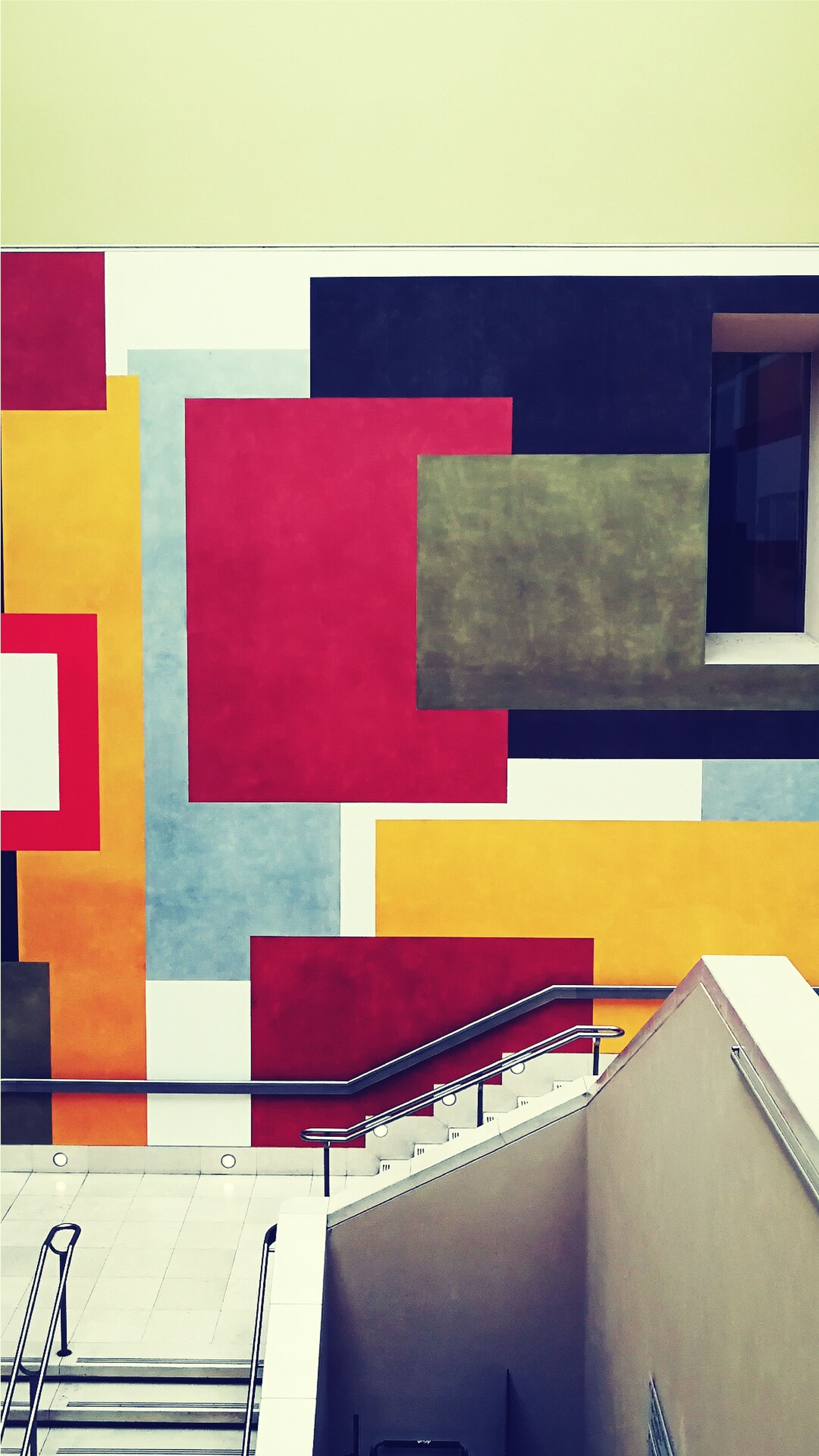 red, multi colored, built structure, no people, architecture, indoors, building exterior, backgrounds, education, day
