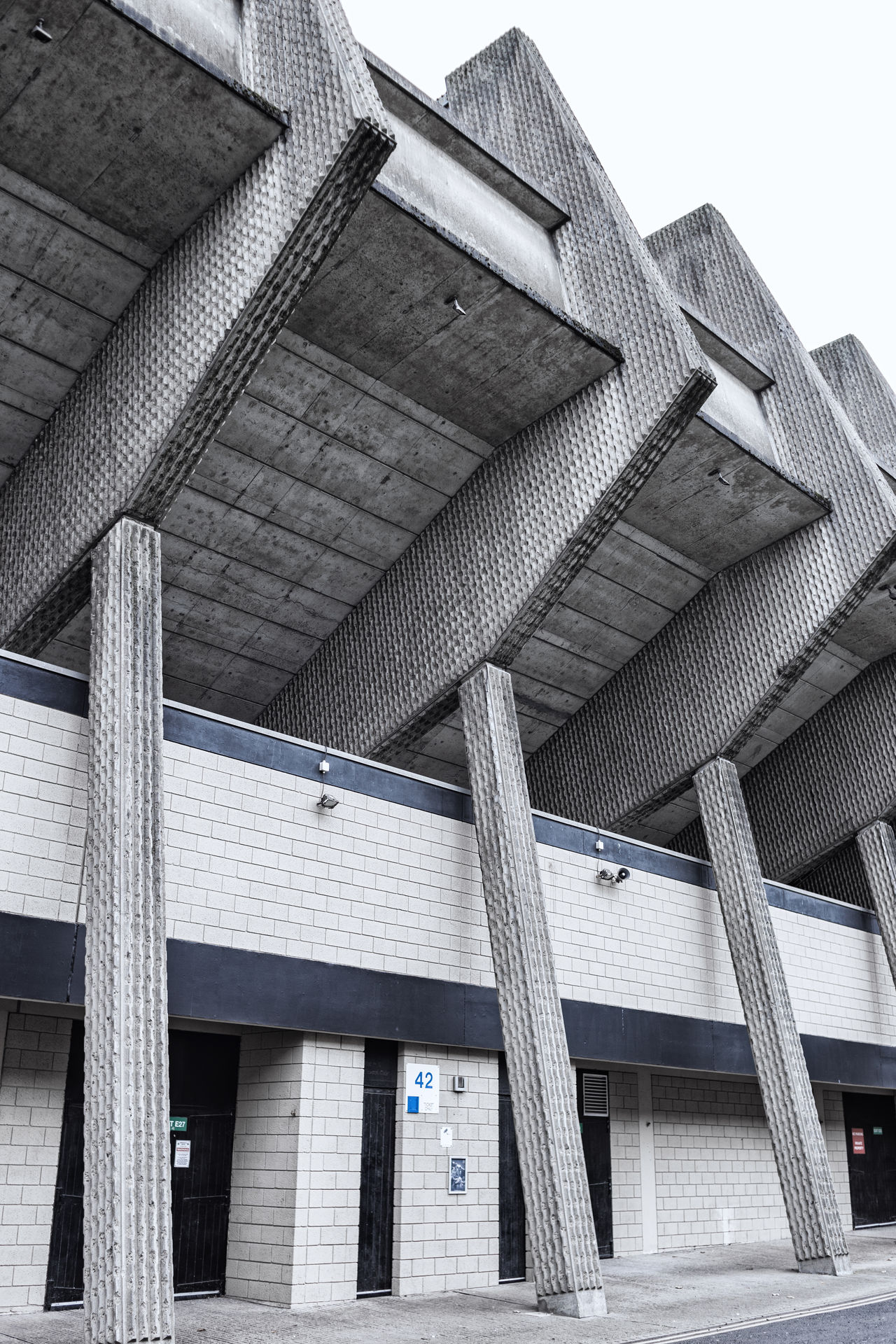 City Newcastle United F.C. Stadium Architecture brutalism building exterior built structure detail Low angle view no people st james park