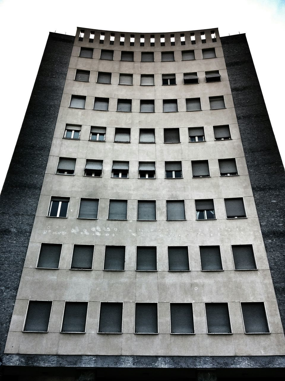 architecture, built structure, low angle view, window, building exterior, pattern, outdoors, day, no people
