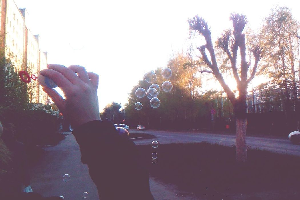 Bubbles Sunshine ☀ Summersoon Nakedtree Hand Park - Man Made Space